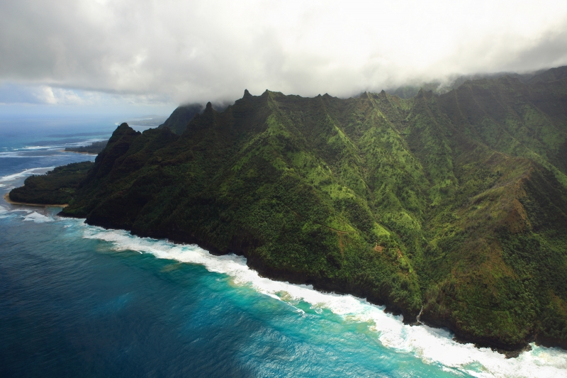 Kalalau Hiking Trail Along The Napali Coast, Hawaii