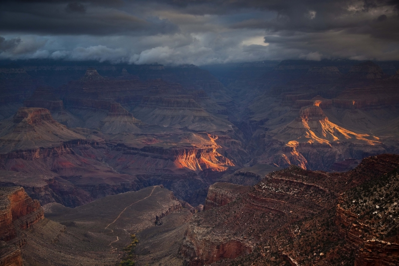 Saturday Sunrise, South Rim Trail, Grand Canyon Np