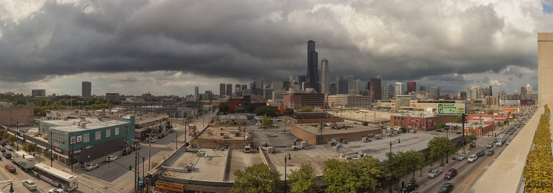 South Loop Chicago Storm Clouds Panoramic…