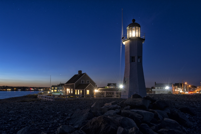 Scituate Light In Blue Light