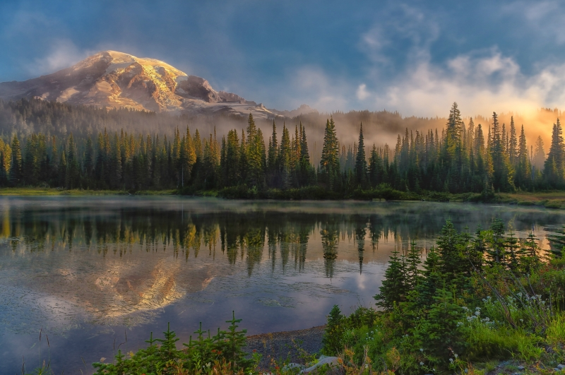 First Light On Mt. Rainier