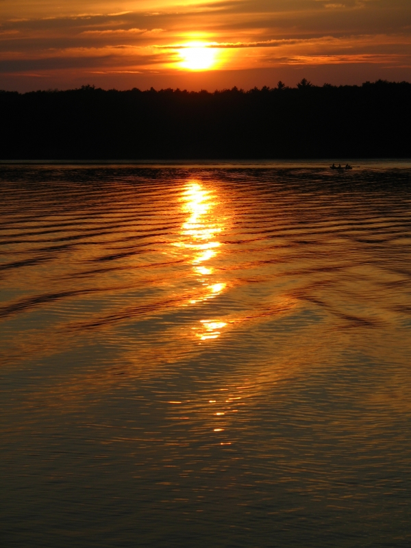 Sunset On Foote Dam Pond