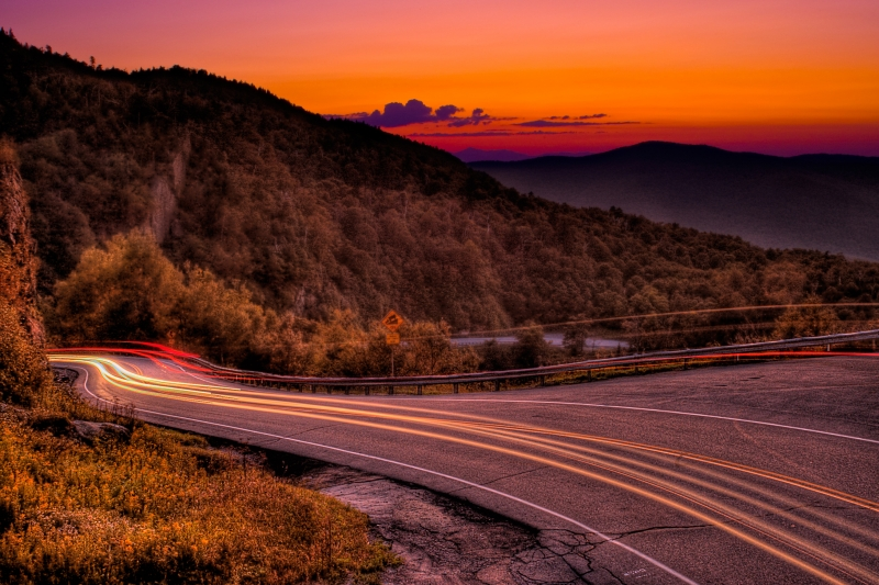 Headlights Over Appalachian Gap