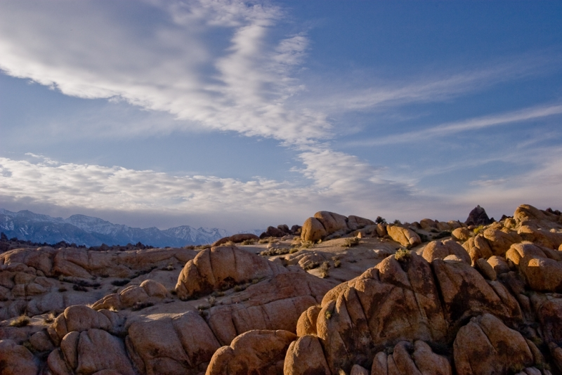 Sunset Over The Alabama Hills In  The Eastern Sierras