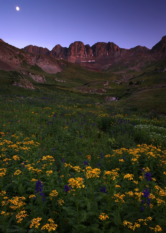Dusk Moonrise, American Basin