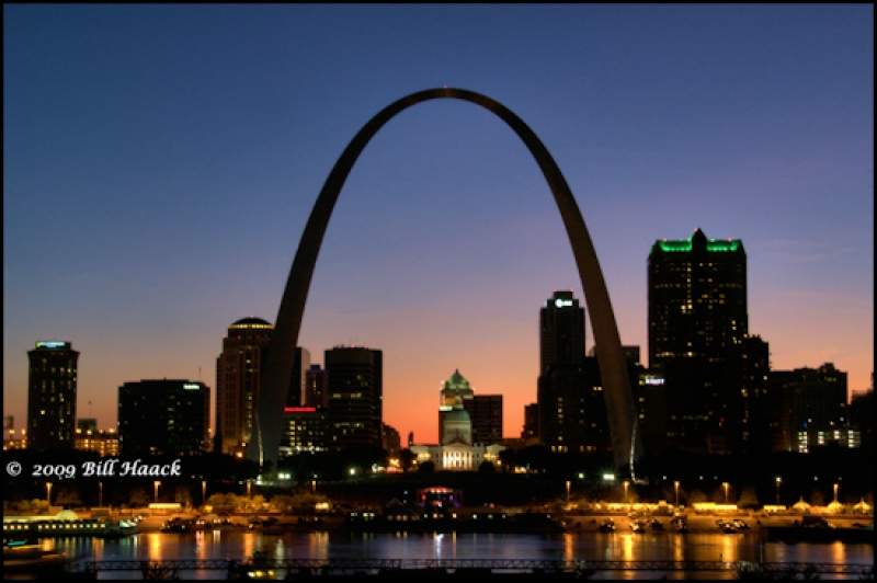 St. Louis Skyline With Gateway Arch