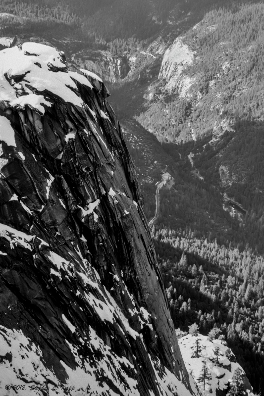 Dewey Point, Yosemite Valley (looking West)