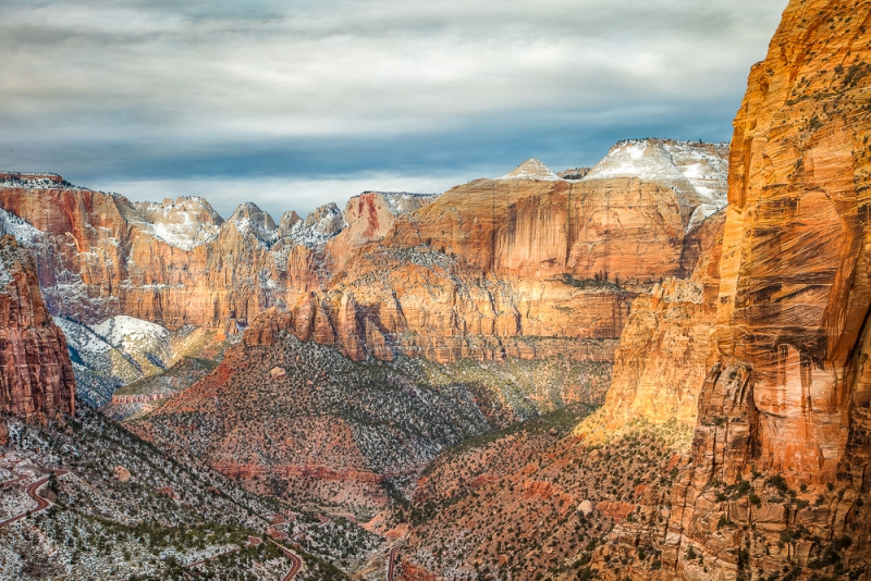 Winter Dusted Zion