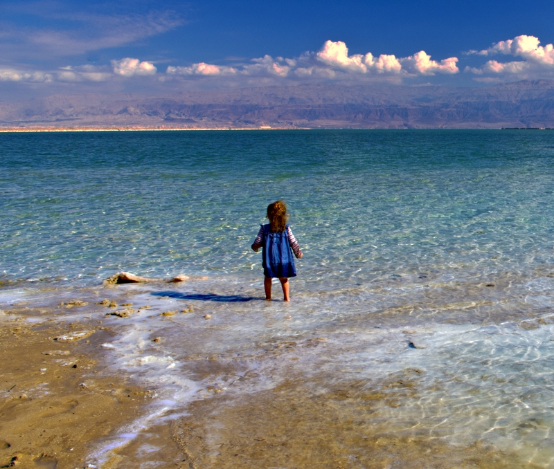 Young Girl At Dead Sea
