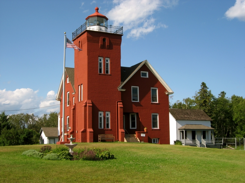 Lighthouse At Two Harbors