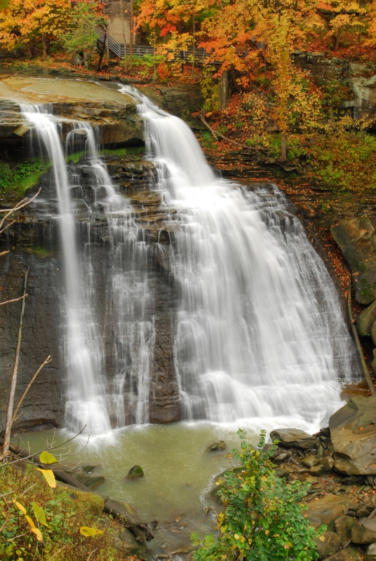 Brandywine Falls In The Fall