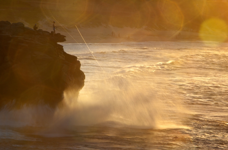 Sun Flare And Surf