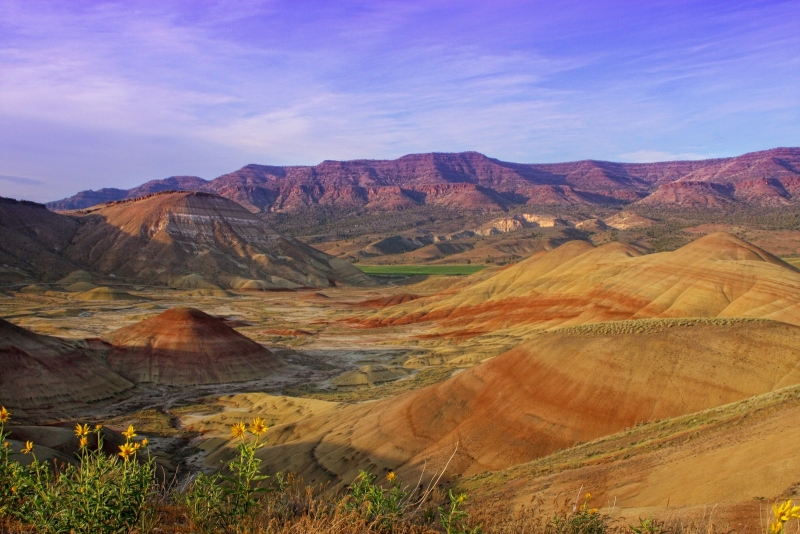 Painted Hills Scenic Point Looking Northwest