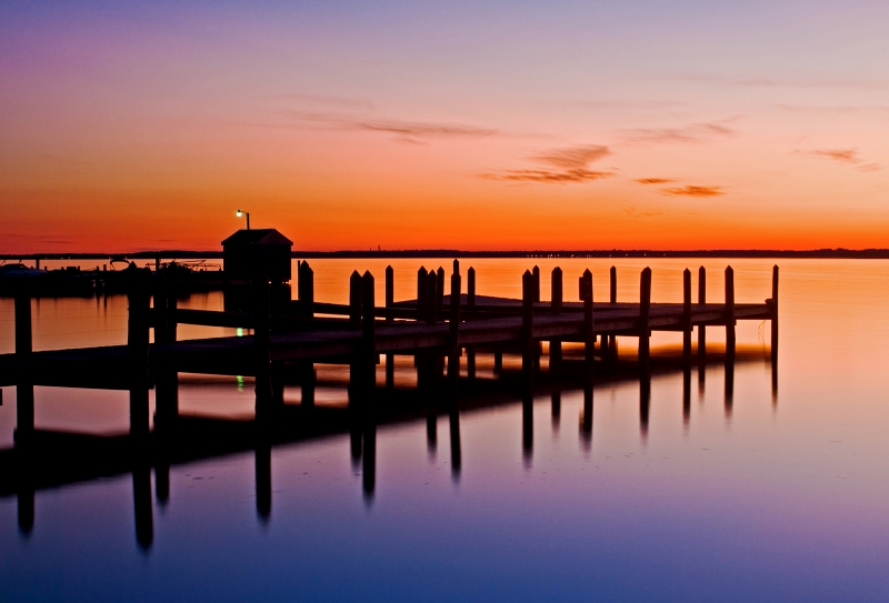 Rehoboth Bay At Sunset