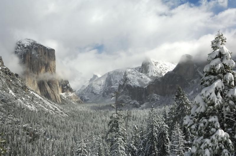 Yosemite Valley Fresh Snow