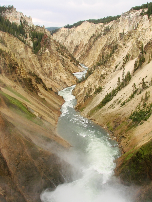 Bottom Of The Lower Falls On Yellowstone River