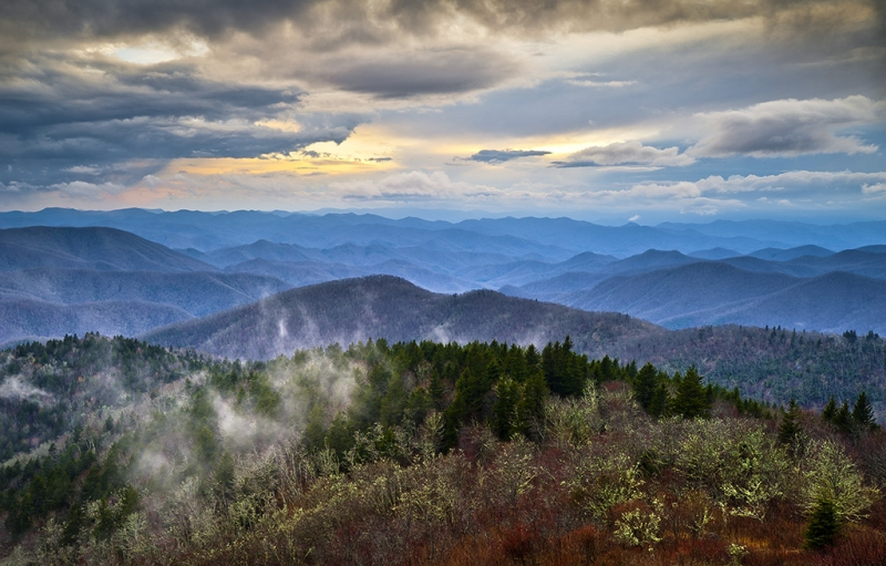 Blue Ridge Blues – Blue Ridge Parkway Scenic Landscape