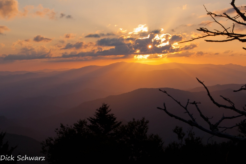 Sunset From Waterrock Knob, Nc