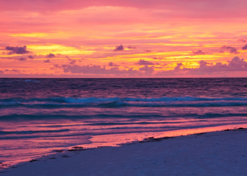 Sunset At Siesta Key, Florida