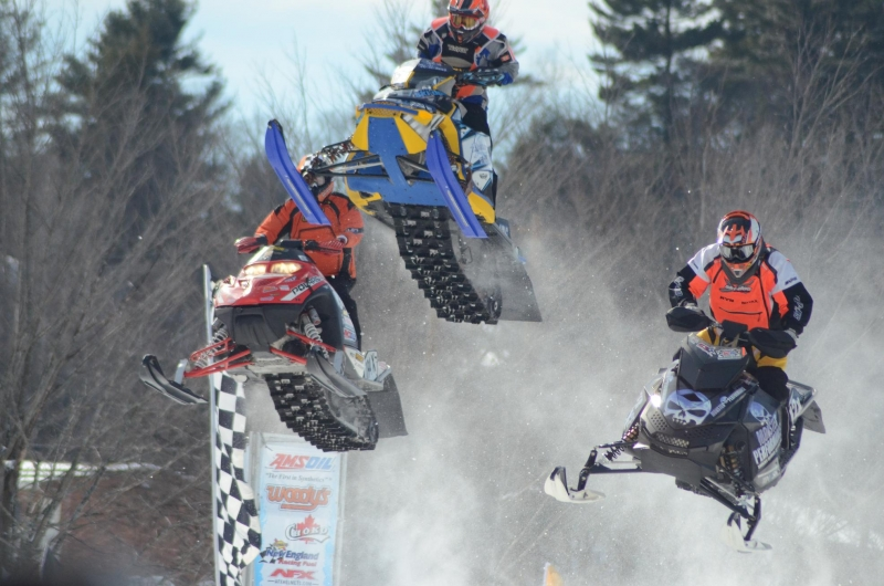 Snowmobile Snow Cross Races