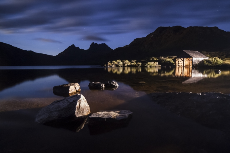 Cradle Mountain Light Painting.