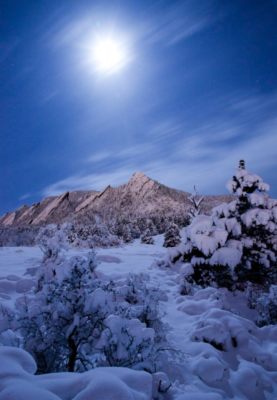 Moonlight Flatiron Snow