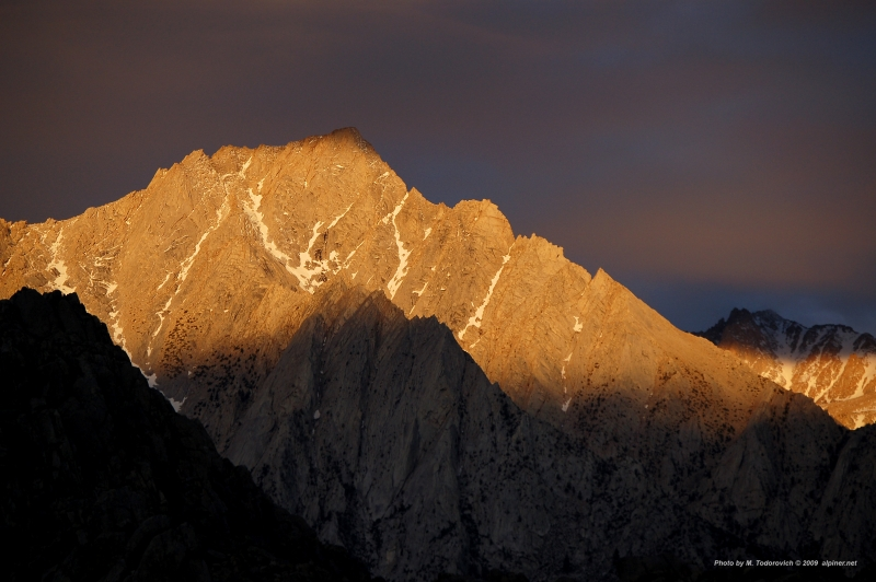 Lone Pine Peak At Sunrise