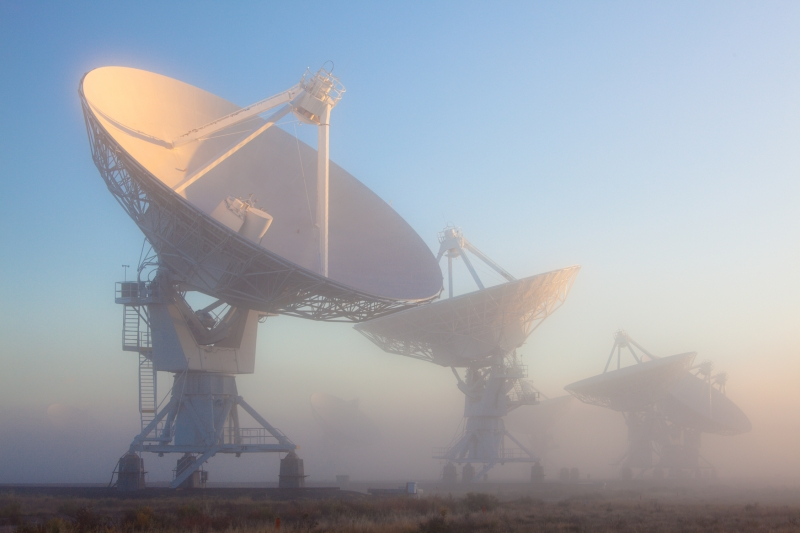 Very Large Array In Fog