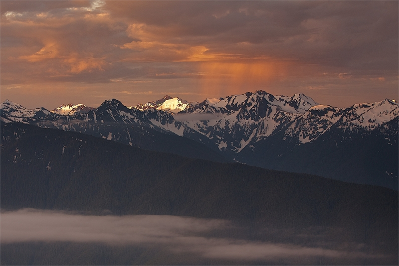 Olympic Mountains, Dawn Storm