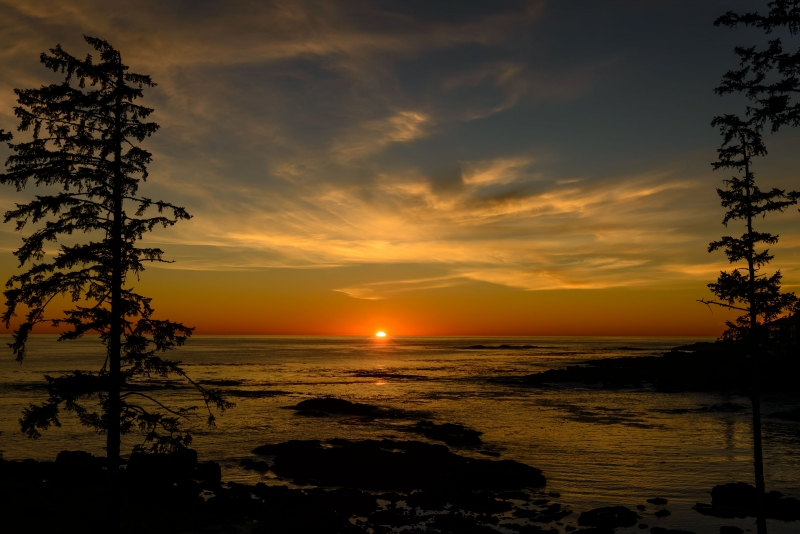 Sunset In Ucluelet