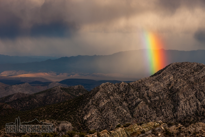 Desert Rainbow View From Tikaboo Peak, Nevada