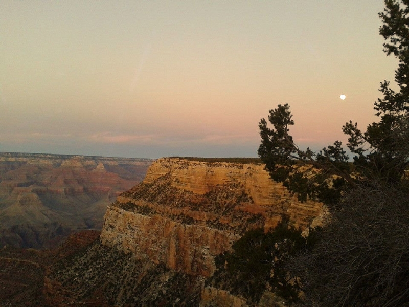 Moon Over The Canyon