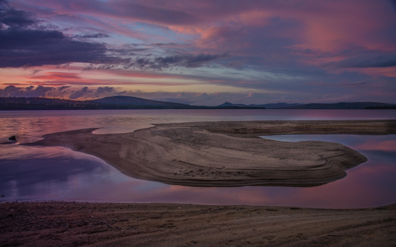 Sand Island Sunset Purple