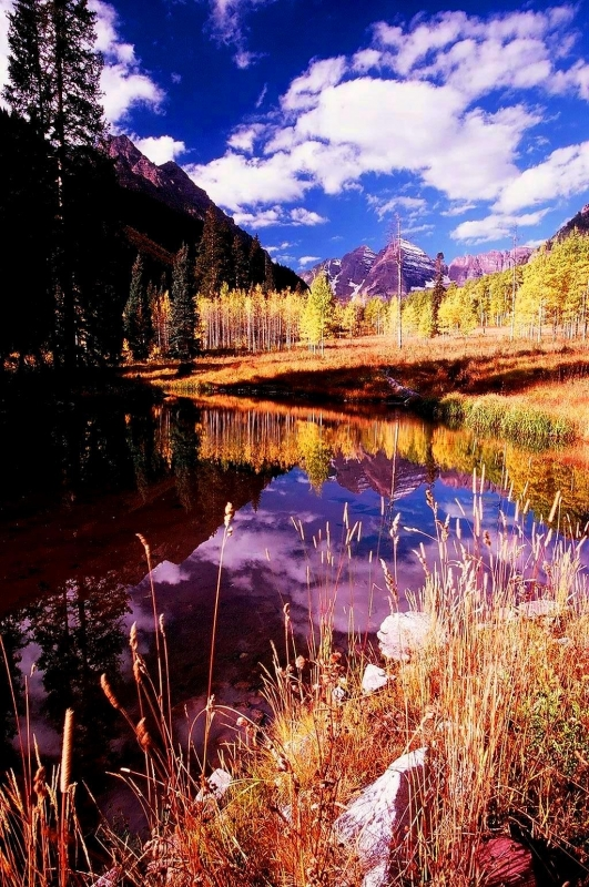 Pond Beneath The Maroon Bells