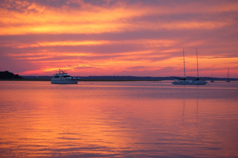 October Sunset On Amelia River