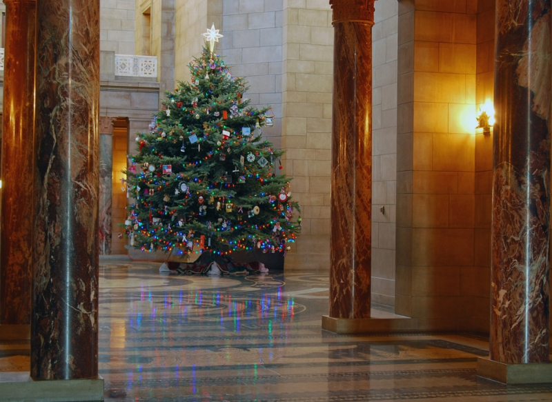Chrstmas Tree In The Capitol