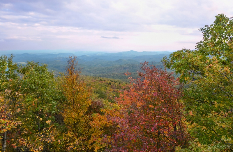 Autumn Layers On The Blue Ridge Parkway