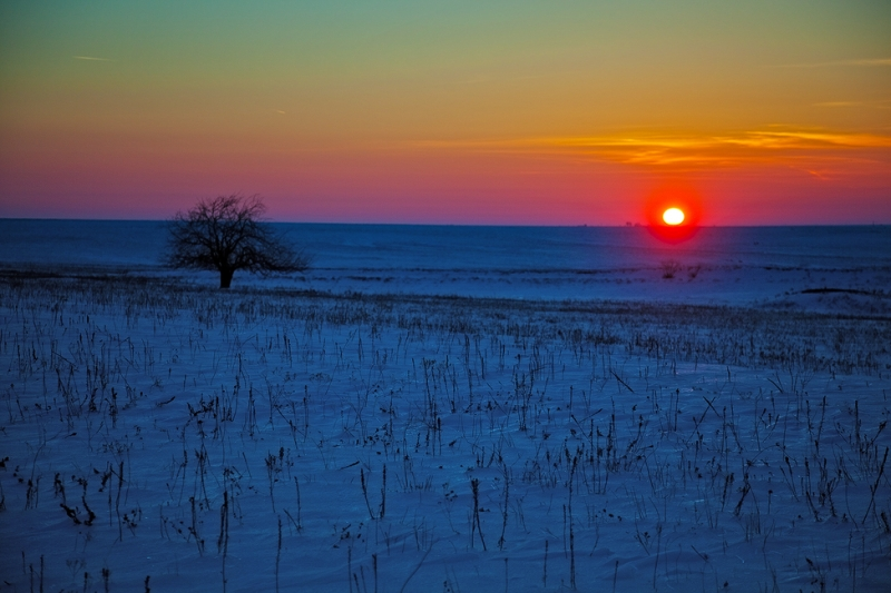 Sun Sets Over The Flint Hills