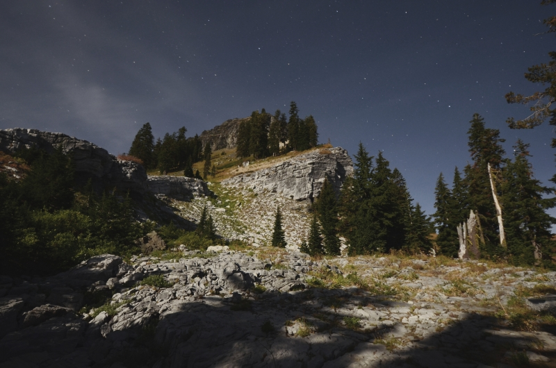 Black Marble Mountain At Night