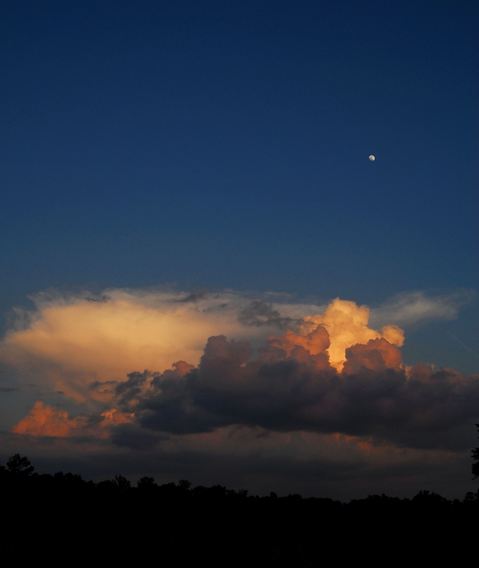 Spring Moonrise And Thunderhead