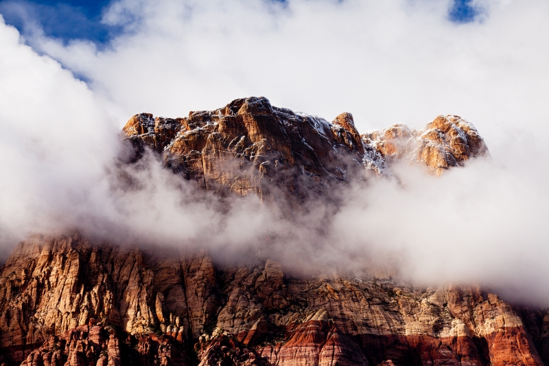 Cloud Ring At Red Rock