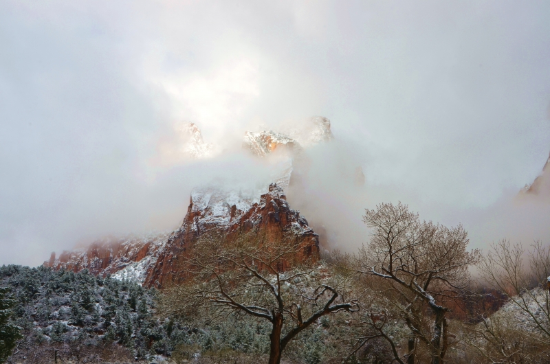 Clearing Storm In Zions National Park