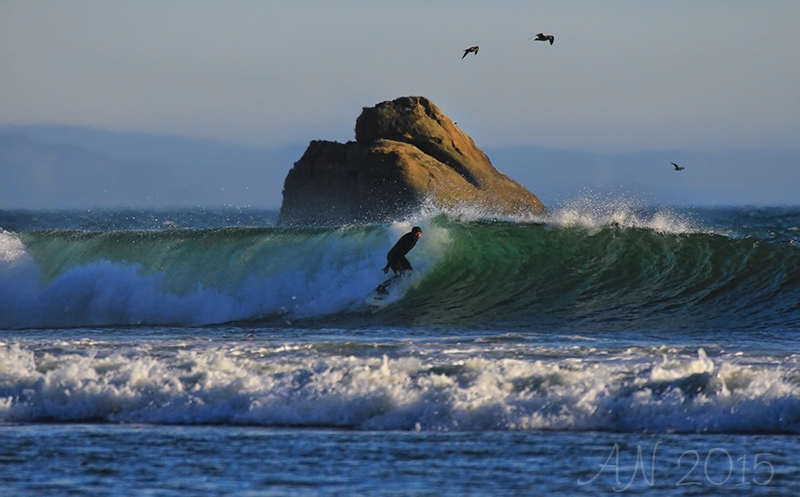 Surfing At The Rock Wave