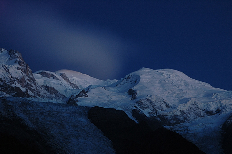 Mont Blanc At Night