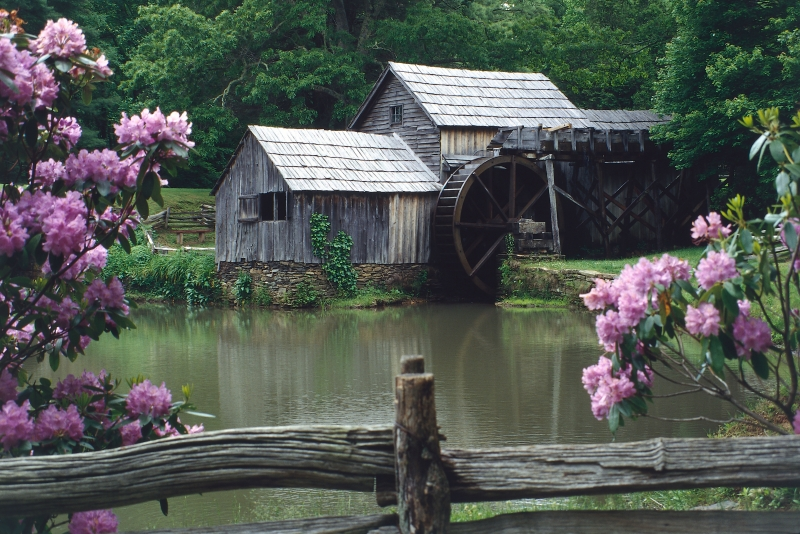 Springtime At Mabry Mill