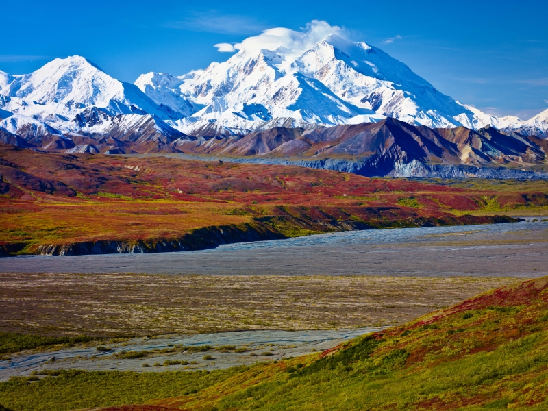 Breathtaking Mount Mckinley, Denali National Park, Alaska.