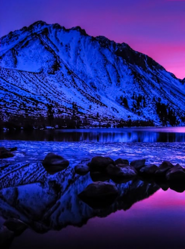 Winter Sunset Over Convict Lake