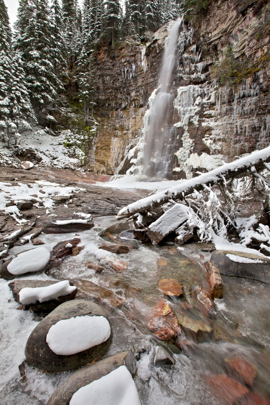Winter At Virginia Falls