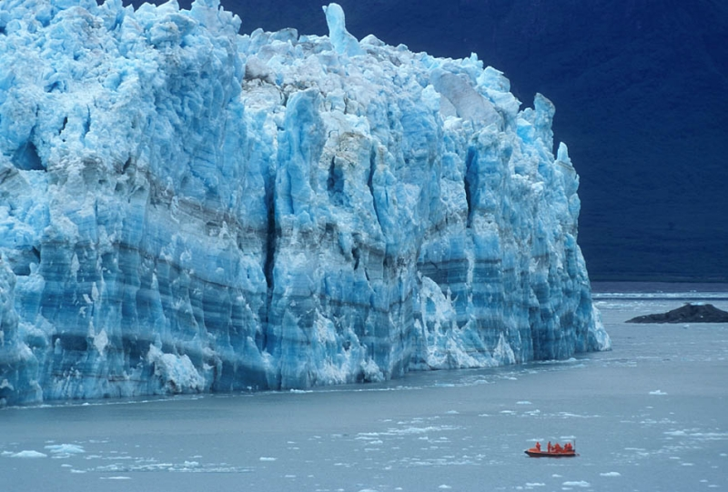 Scout Boat And Glacier
