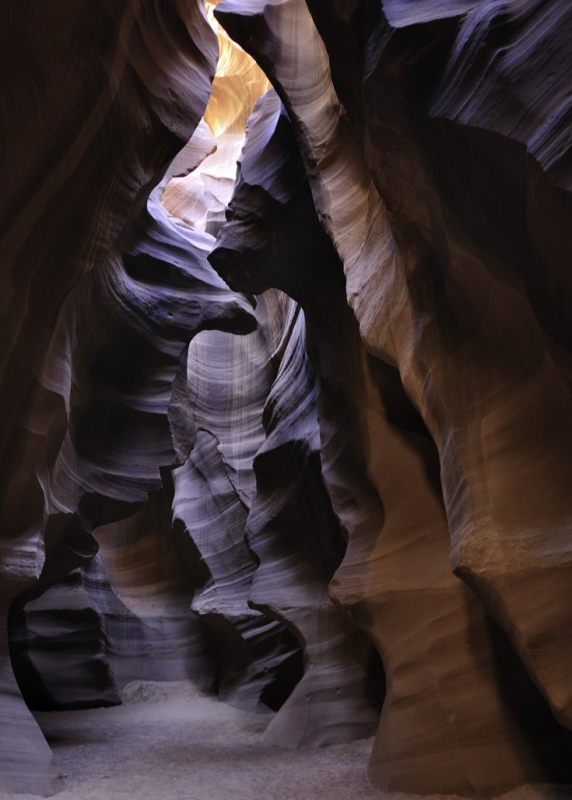 Purple Light In Antelope Canyon